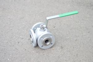 Kohout kulový 3-dílný s úpravou přírub